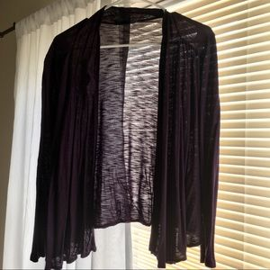 Purple Mossimo Open Flowy Cardigan